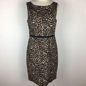 Loft Leopard Print Sleeveless Dress size 6